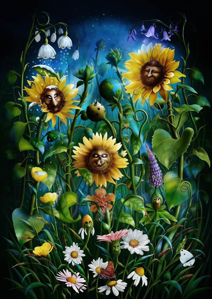 Flower power the art of jeshannon for Art flowers