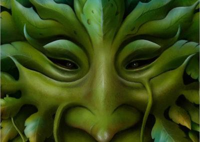 Green Man Detail 1
