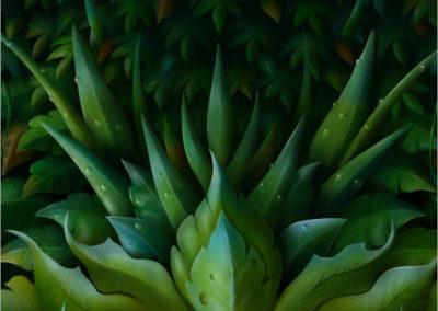 Green Man Detail 2