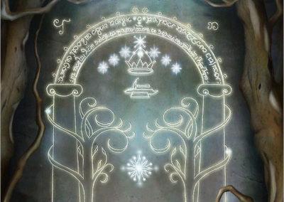 The Doors Of Moria Detail 1